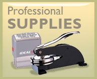 notary Public Professional supplies, embossers, stamps.