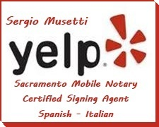 Apostille service, Spanish Translation, Sacramento Mobile Notary Public Signing Agent bilingual, certified, NNA, Sergio Musetti Tel 1-707-992-5551 http://apostille.homestead.com